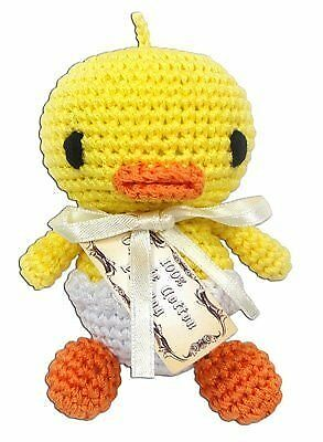 Knit Knacks Hatch the Baby Duck Organic Cotton Small Dog Toy - Teeth Cleaning