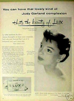 1954 Judy Garland (Movie Star) Lux Toilet Soap Photo AD
