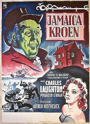 CUT $140!! JAMAICA INN 1939 DANISH POSTER - RARE ALFRED HITCHCOCK W/ LAUGHTON!!!