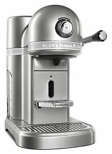Nespresso By KitchenAid KES0503SR Sugar Pearl Silver Metal Espresso Machine