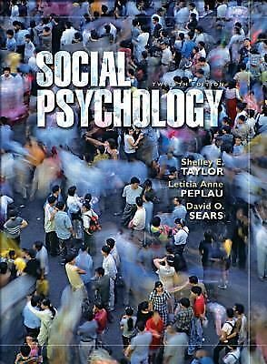 social psychology david o. sears, shelley e. taylor, anne l.