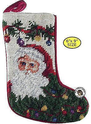 Vintage Needlepoint Christmas Stockings