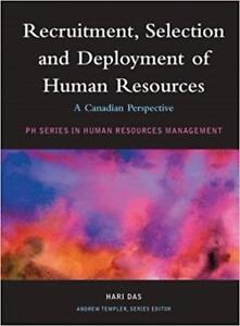 Recruitment Selection and Deployment of Human Resources A Canadian Perspective 1st Edition