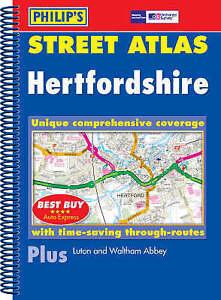 , Philip's Street Atlas Hertfordshire, Very Good Book