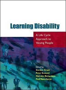 Learning Disability: A Life Cycle approach to Valuing People, Very Good Conditio
