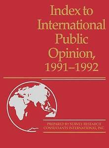 NEW Index to International Public Opinion, 1991-1992