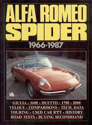 ALFA ROMEO SPIDER S1 BOATTAIL S2 S3 S4 ( 1966 - 1987 ) PERIOD ROAD TESTS BOOK