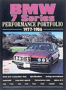 Bmw-7-Series-1977-86-Performance-Portfolio-by-R-M-Clarke-1999-Paperback