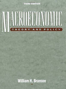 Macroeconomic Theory and Policy (3rd Edition) by Branson, William H.