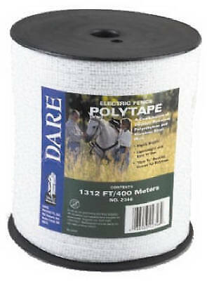 Electric Fence Tape White Poly 5-wire Stainless Steel 12 In. X 1312-ft.