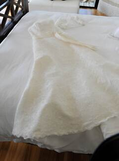 Sylvia Rose Ivory Lace and Pearl wedding dress