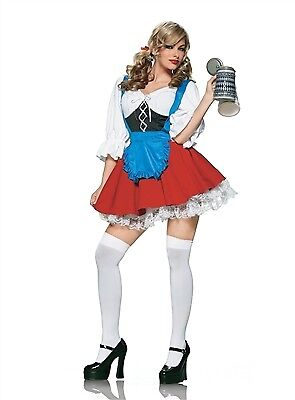 Leg Avenue Beer Girl Costume (Leg Avenue Import Beer Girl Costume 83164 Red/White)