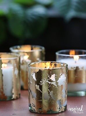 Gold Leaf Candle via Inspired by Charm