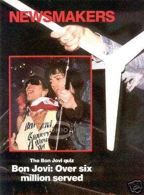 BON JOVI magazine PINUP JON 80