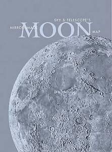 Sky & Telescope's Mirror-Image Moon Map Laminated by Sky Editors (Sheet map,...