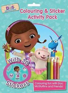 New Disney Doc McStuffins Colouring and Sticker Activity Pack: Over 30 Stickers;