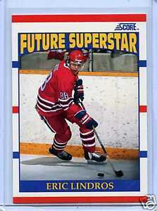 ERIC LINDROS, FUTURE SUPERSTAR .... his ONLY ROOKIE CARD