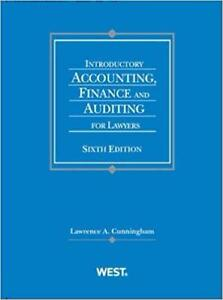 Introductory Accounting Finance and Auditing for Lawyers 2nd Edition