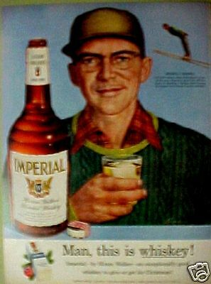 "1954 Merrill Barber""Imperial""Whiskey American Skiers AD"