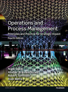 Operations and Process Management by Prof. Nigel Slack New Hardback Book