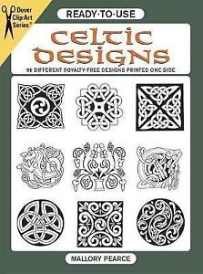 Ready-to-Use Celtic Designs: 96 Different Royalty-Free Designs Printed One...