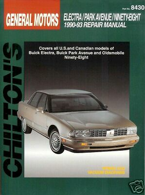 GM Electra/Park Avenue/Ninety-Eight 1990-93 Chiltons Repair Manual