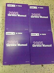 2005 Hummer H2 H 2 Service Repair Shop Workshop Manual Set FACTORY OEM NEW