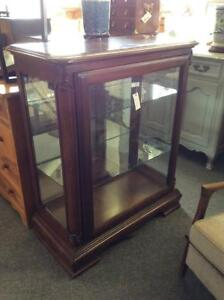 Cherry Low Curio Display Cabinet