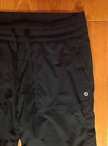 Lululemon black lined studio pant size 10