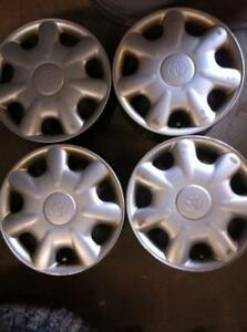 "4 - Toyota Tercel 14"" Steel Rims with Hub Caps"