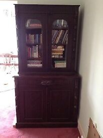Victorian Carved Greenman Bookcase