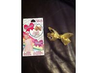 Brand new Jojo bow siwa mini gold limited edition surprise bow