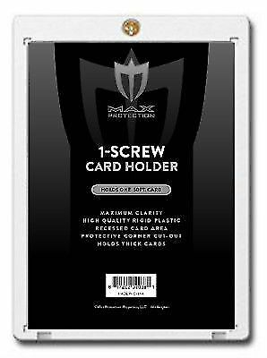 25 Max Pro Thick 50pt Pro 1 Screw Plastic Card Holders for Baseball -