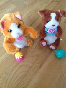 2 x FurReal Friends - cat with bottle and dog with cup Athelstone Campbelltown Area Preview