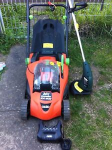 Ozito 36 V battery lawn mower & Ozito electric whipper snipper Miller Liverpool Area Preview