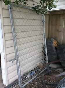 Chain link fence, gate, posts and rails