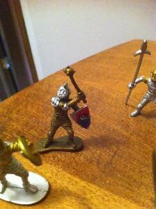 Set of Plastic Medieval Knights Toy Soldiers Cambridge Kitchener Area image 2