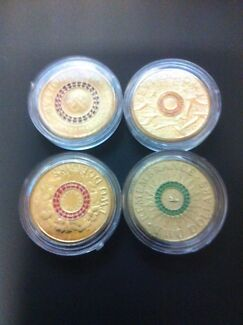 Set of 4 Coloured Anzac $2 coins