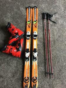 Junior skis, boots,bindings and poles