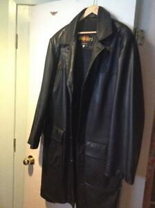 leather long jacket for men, large, Dimitri couture collection, West Island Greater Montréal image 3