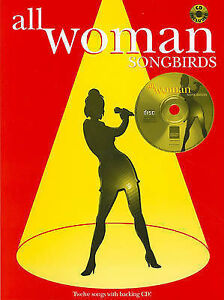 All Woman Songbirds Vocal Sheet Music Female Sing-Along CD Audition Songbook B62
