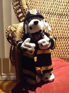 Dancing fire department dalmatian.