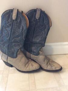 Men's snakeskin and leather cowboy boots