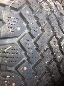 205-75-14 Studded Winter Tires ON RIMS