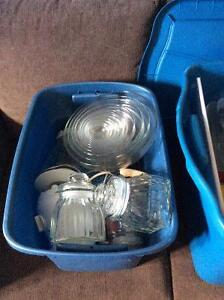 Basic Kitchen Items - 3 Totes Full - Great for a Student