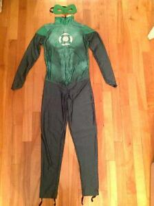 Green lantern adult costume for women with mask