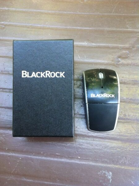 Black Rock wireless optical mouse. In good working condition.