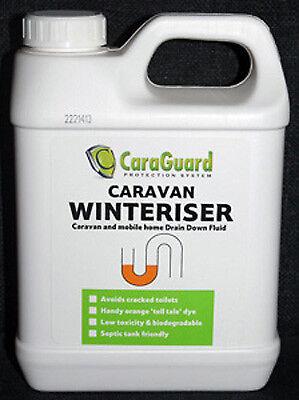 Caravan CaraGuard Winteriser / Drain Down Fluid, Eco Anti Freeze 1 Litre bottle