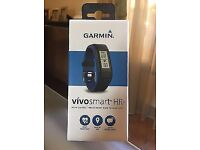 **SEALED** GARMIN VIVOSMART HR+ WITH ELEVATE HEART WRIST TECHNOLOGY BRAND NEW IN BLACK,SIZE: REGULAR