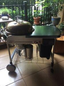 "22"" WEBER Performer Deluxe charcoal BBQ - used once!!"
